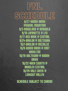 Fnl Schedule